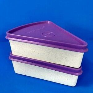Tupperware Pie Wedge To-Go Container/Keeper Set